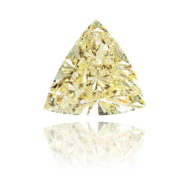 Natural Yellow Diamond Triangle 0.34 ct Polished