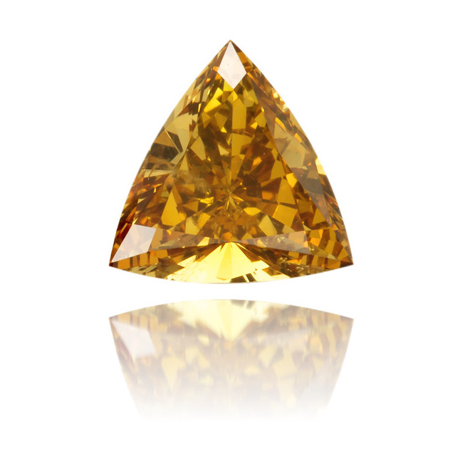Natural Orange Diamond Triangle 0.32 ct Polished