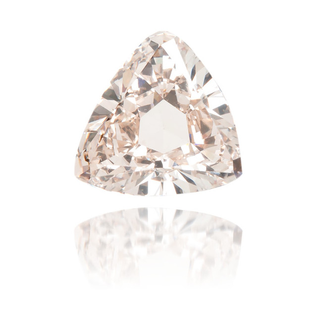 Natural Pink Diamond Triangle 1.01 ct Polished