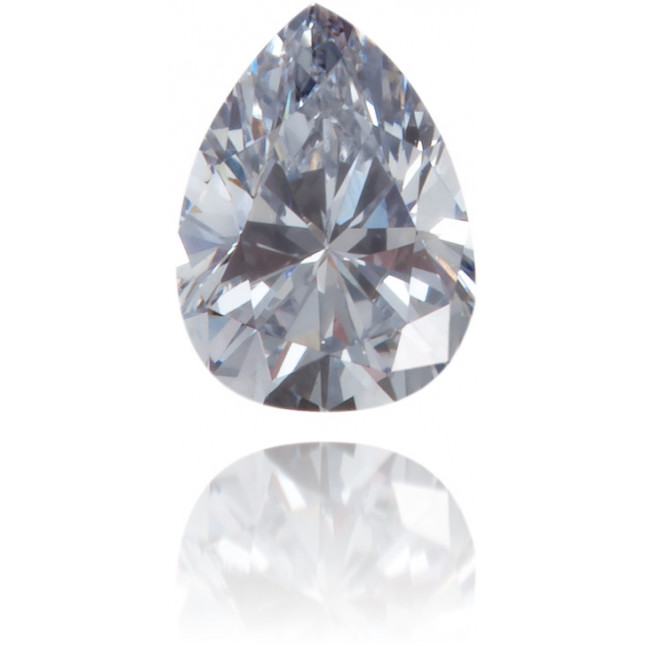 Natural Blue Diamond Pear Shape 0.13 ct Polished
