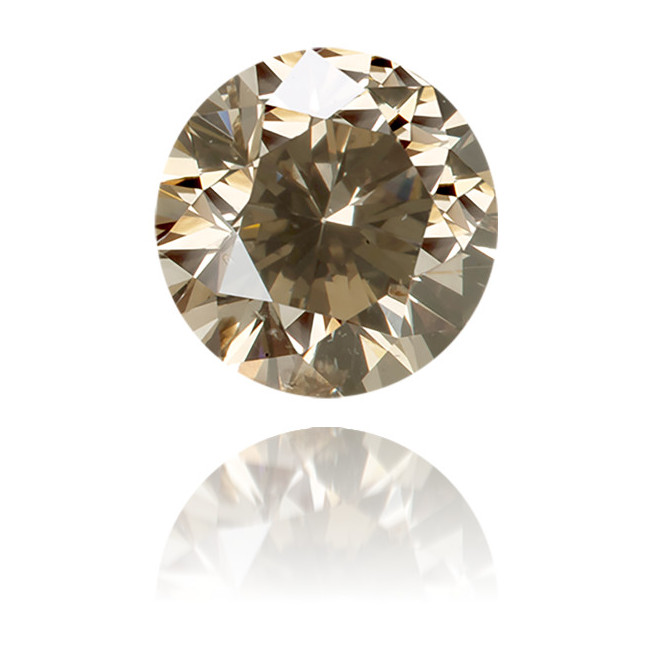 Natural Brown Diamond Round 0.66 ct Polished