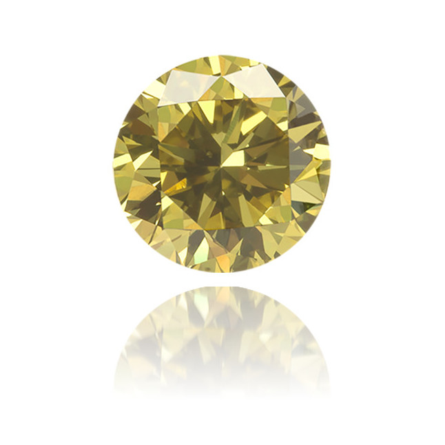 Natural Green Diamond Round 0.46 ct Polished