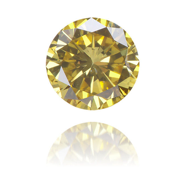 Natural Yellow Diamond Round 0.45 ct Polished