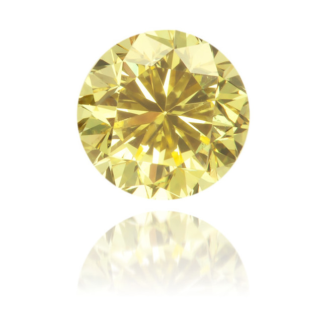 Natural Yellow Diamond Round 0.35 ct Polished