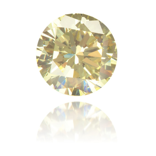 Natural Yellow Diamond Round 0.46 ct Polished