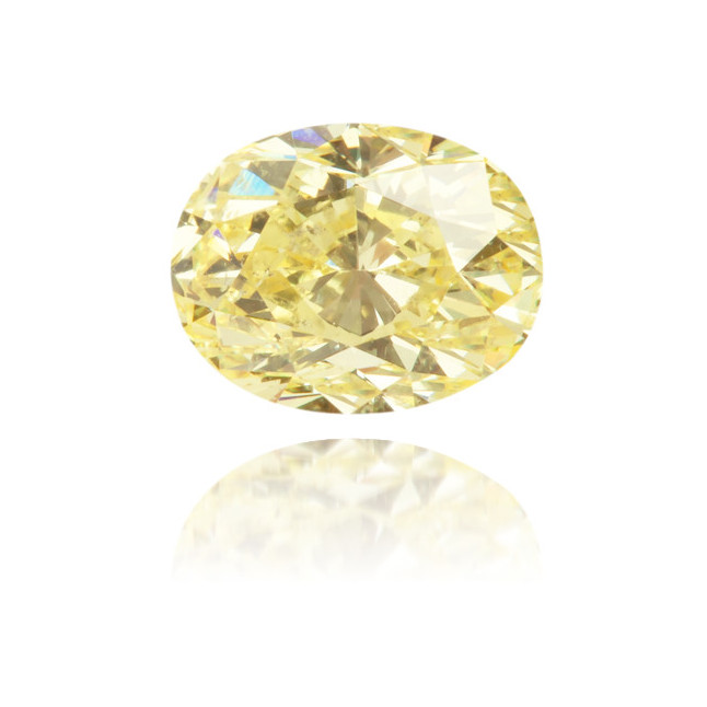 Natural Yellow Diamond Oval 0.54 ct Polished