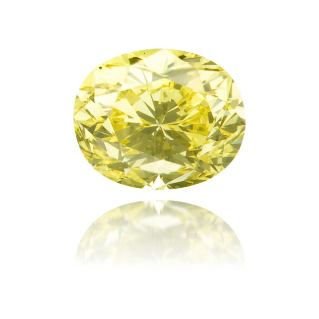 Natural Yellow Diamond Oval 0.59 ct Polished