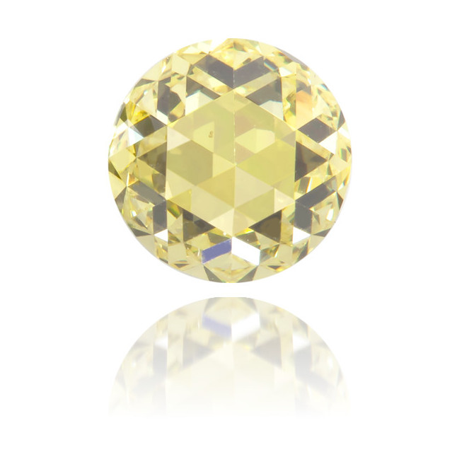 Natural Yellow Diamond Round 0.52 ct Polished