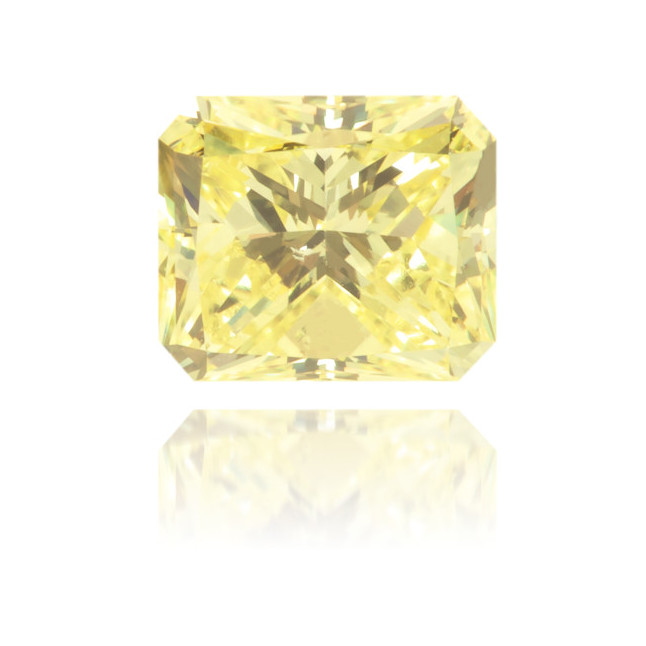 Natural Yellow Diamond Rectangle 0.59 ct Polished