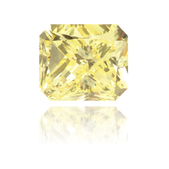 Natural Yellow Diamond Rectangle 0.62 ct Polished