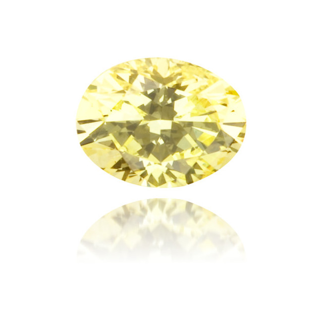 Natural Yellow Diamond Oval 0.18 ct Polished