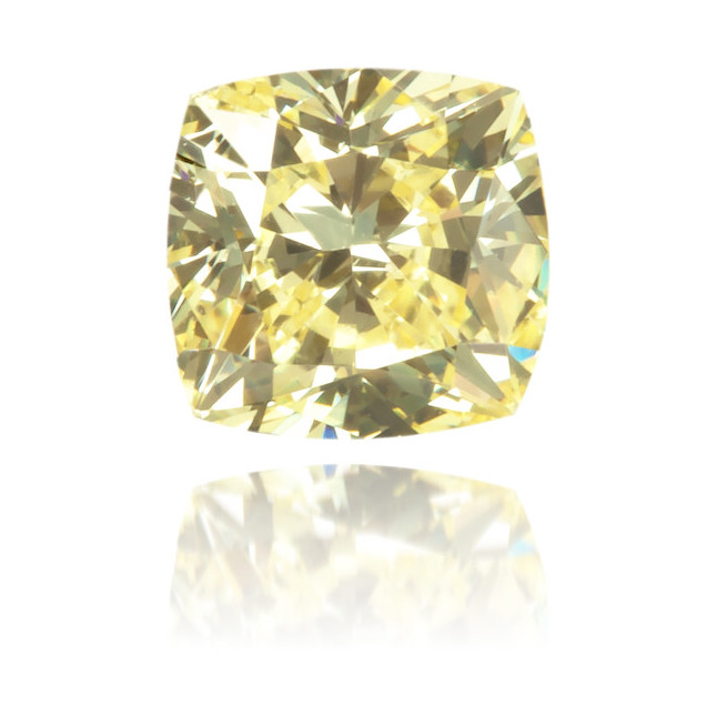 Natural Yellow Diamond Cushion 0.33 ct Polished