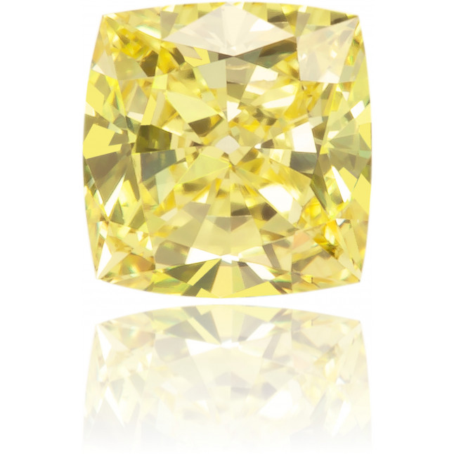 Natural Yellow Diamond Square 0.27 ct Polished