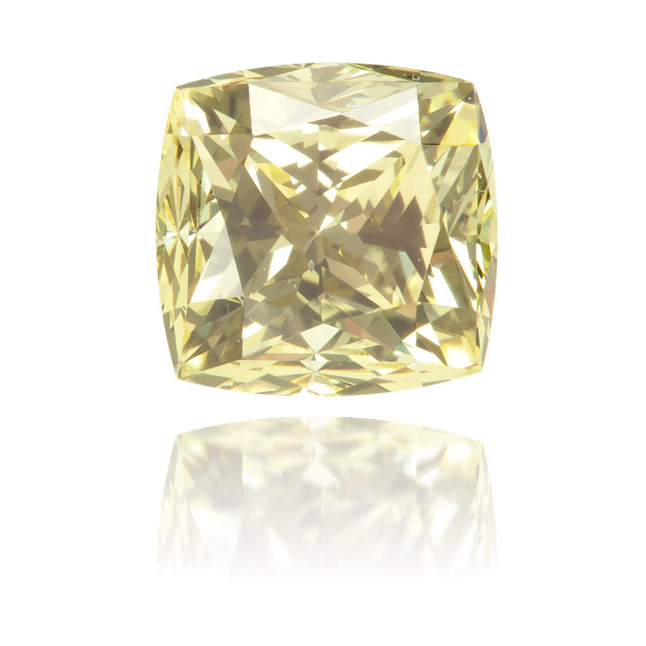 Natural Yellow Diamond Square 0.95 ct Polished
