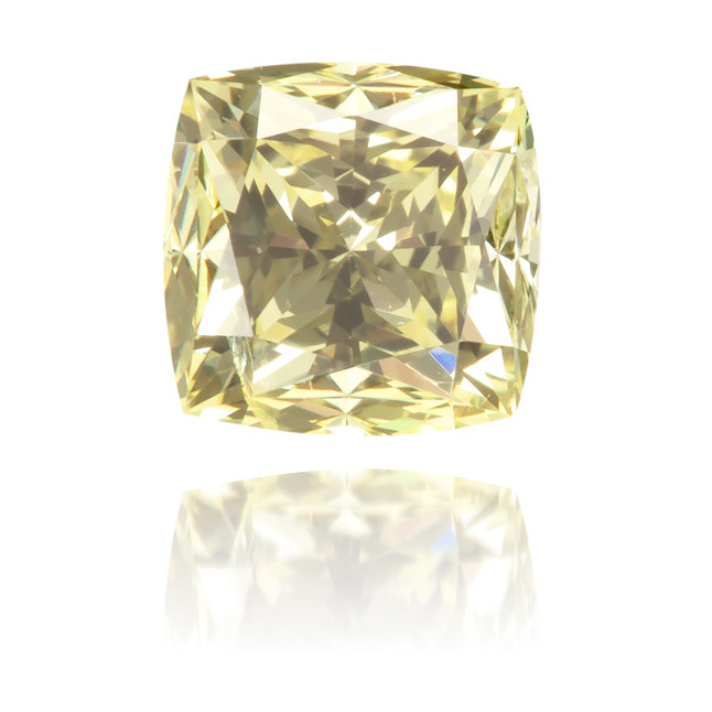 Natural Yellow Diamond Square 0.82 ct Polished