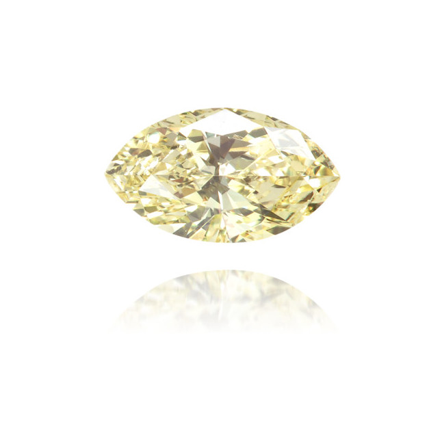 Natural Yellow Diamond Marquise 0.34 ct Polished