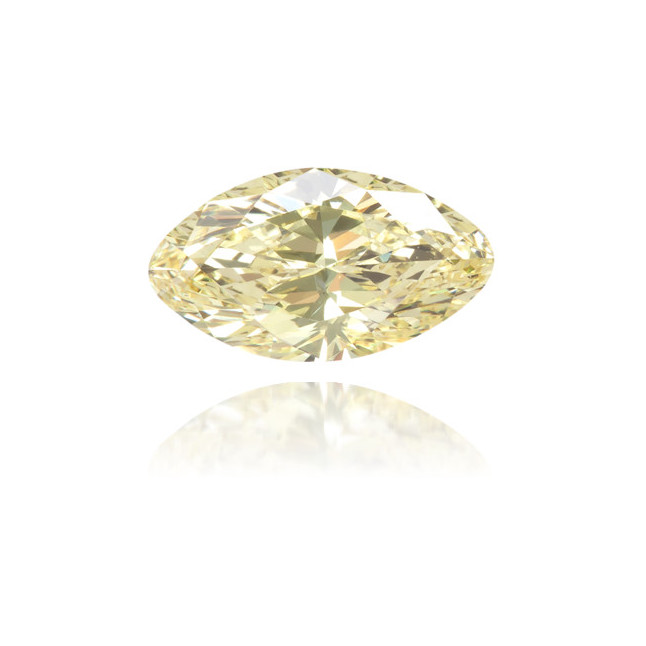 Natural Yellow Diamond Marquise 0.41 ct Polished