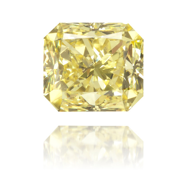 Natural Yellow Diamond Rectangle 0.51 ct Polished