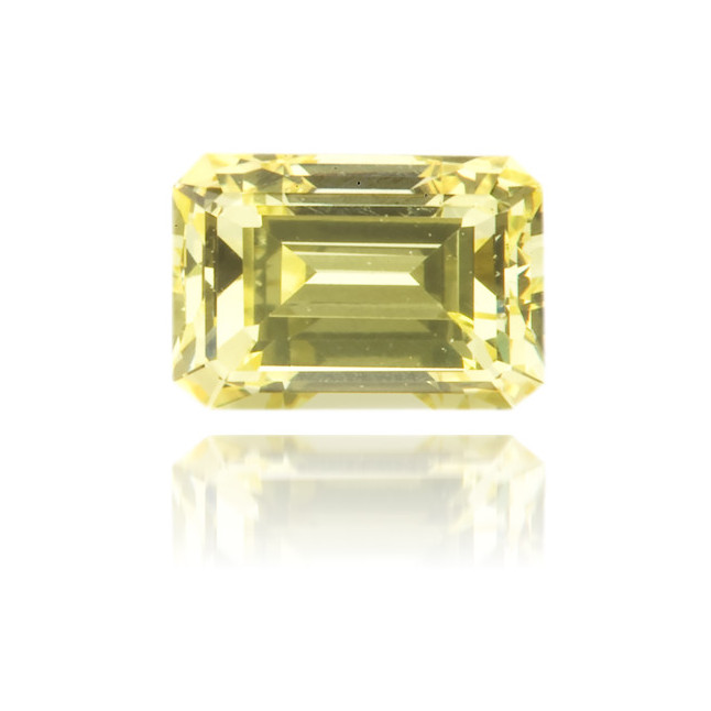 Natural Yellow Diamond Rectangle 0.47 ct Polished