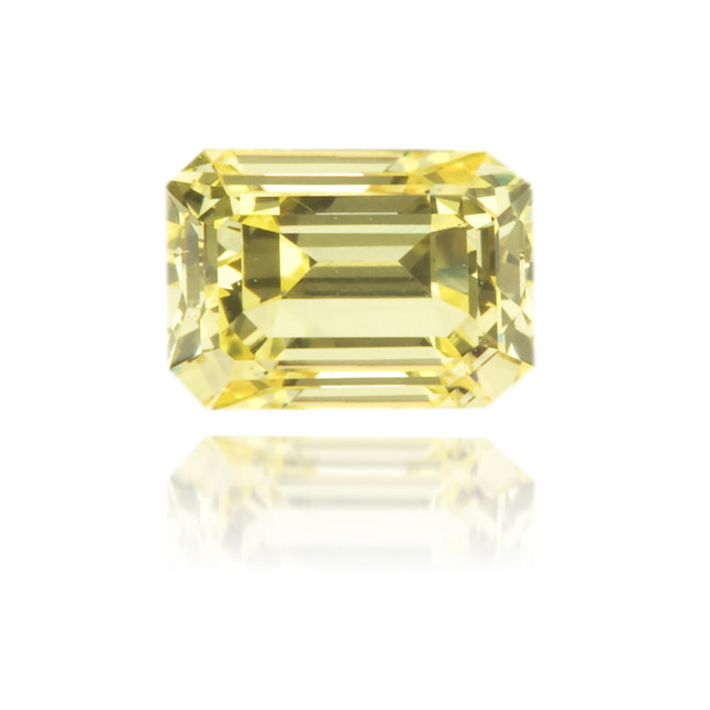 Natural Yellow Diamond Rectangle 0.45 ct Polished