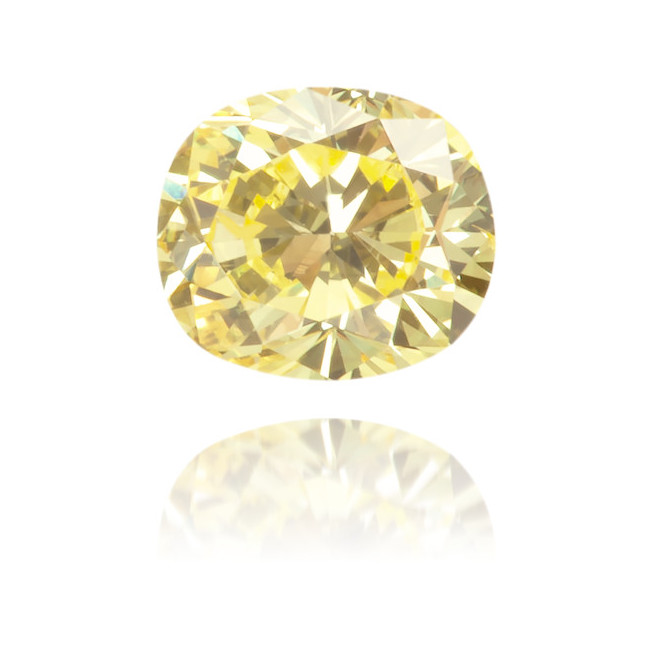 Natural Yellow Diamond Oval 0.20 ct Polished