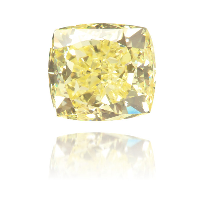 Natural Yellow Diamond Square 0.81 ct Polished