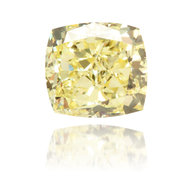 Natural Yellow Diamond Square 0.80 ct Polished
