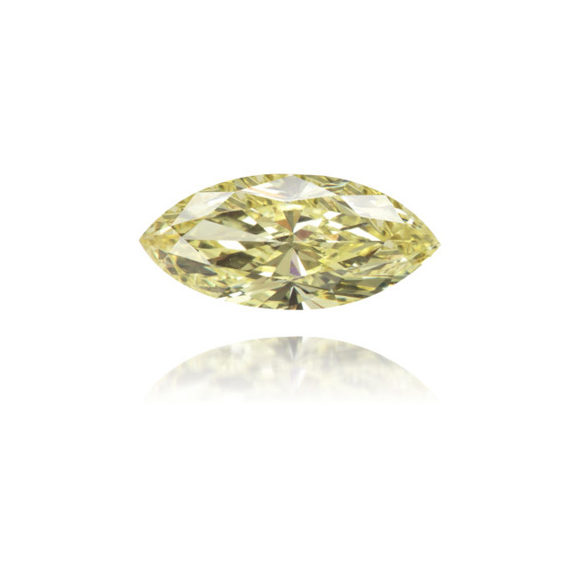 Natural Yellow Diamond Marquise 0.55 ct Polished