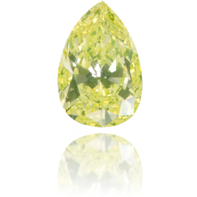 Natural Yellow Diamond Pear Shape 0.26 ct Polished