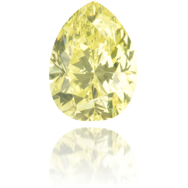 Natural Yellow Diamond Pear Shape 0.46 ct Polished