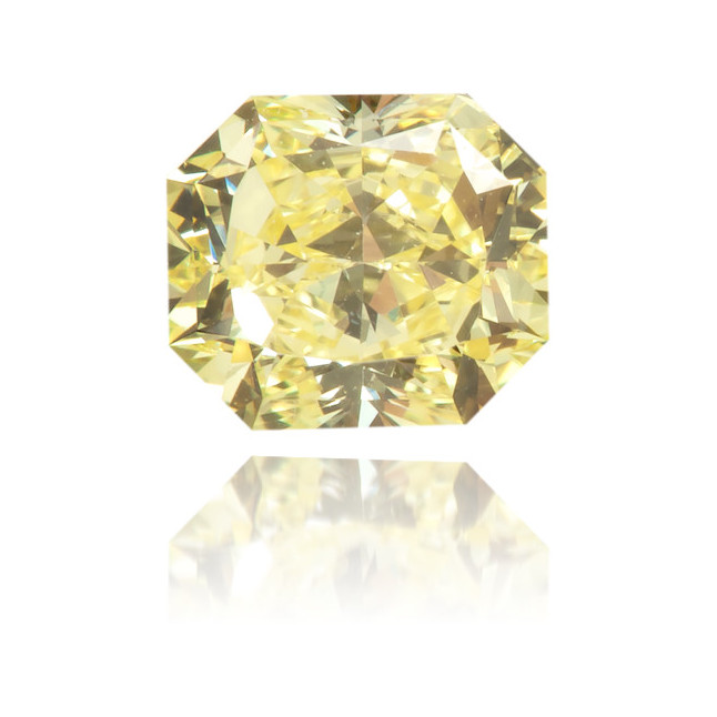 Natural Yellow Diamond Rectangle 0.46 ct Polished