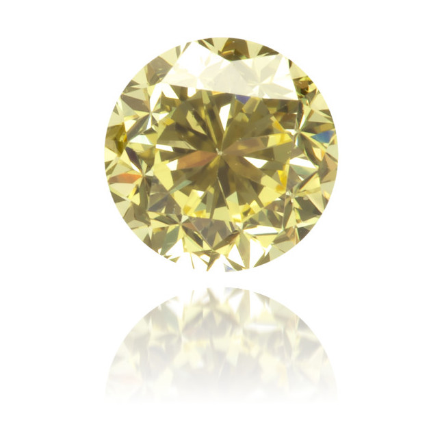 Natural Yellow Diamond Round 0.42 ct Polished