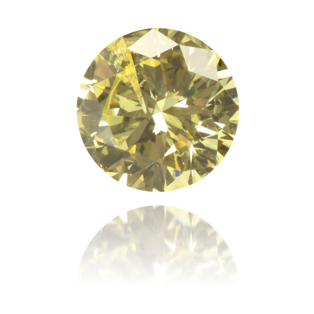 Natural Yellow Diamond Round 0.29 ct Polished