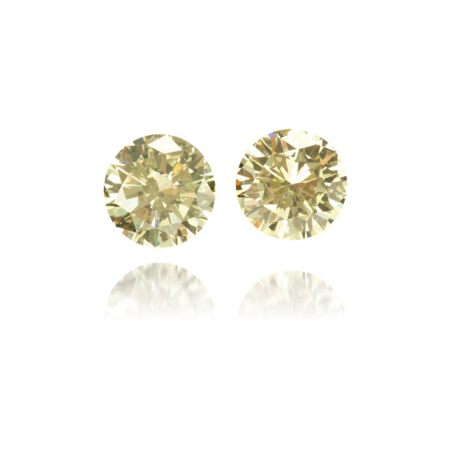 Natural Yellow Diamond Round 1.22 ct Set