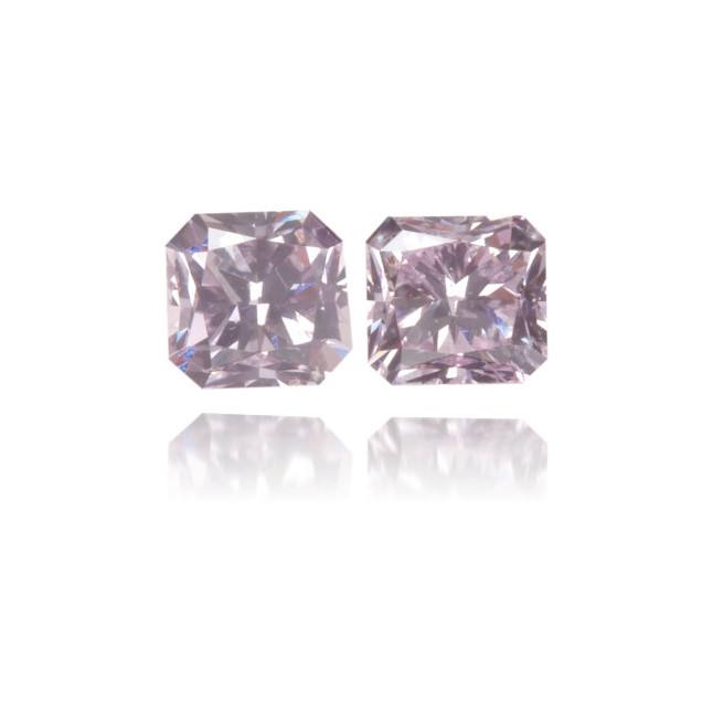 Natural Purple Diamond Square 0.32 ct Set
