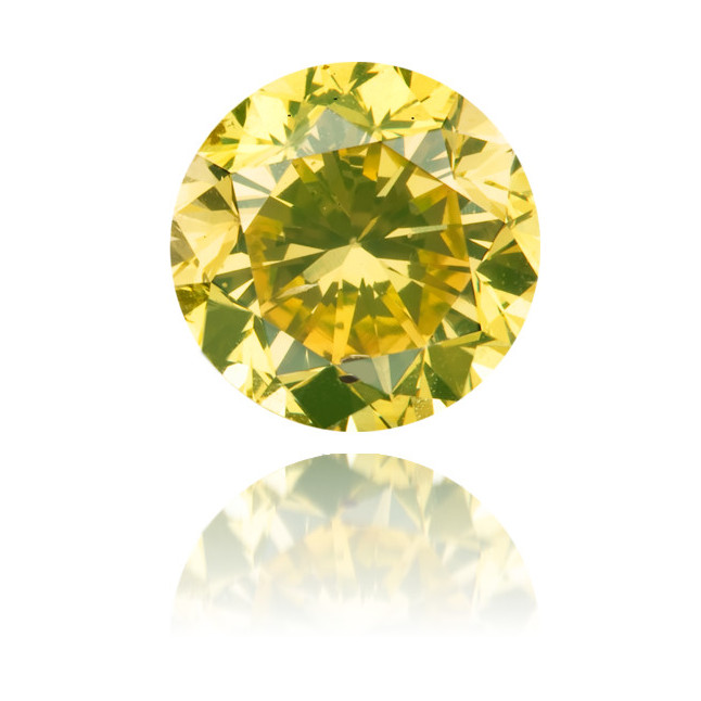 Natural Green Diamond Round 1.43 ct Polished
