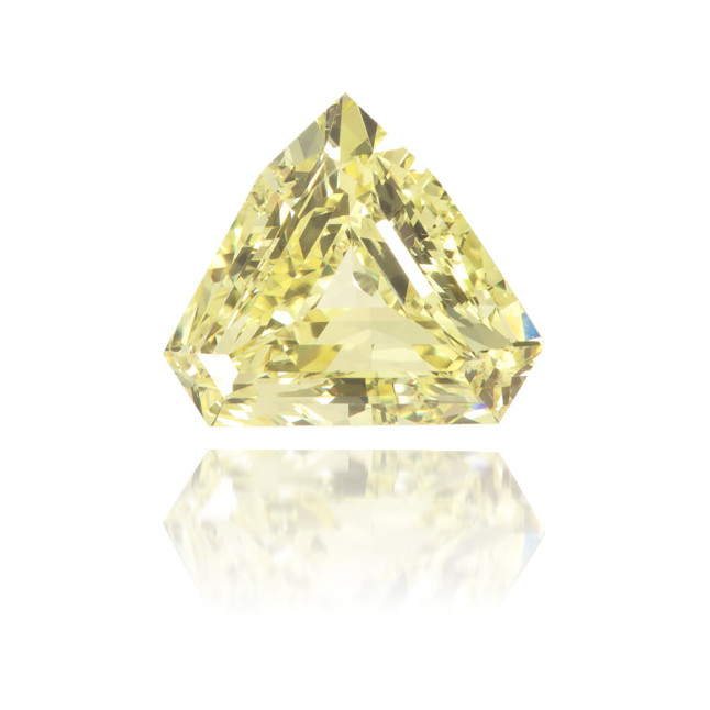 Natural Yellow Diamond Bishop Hat 0.65 ct Polished