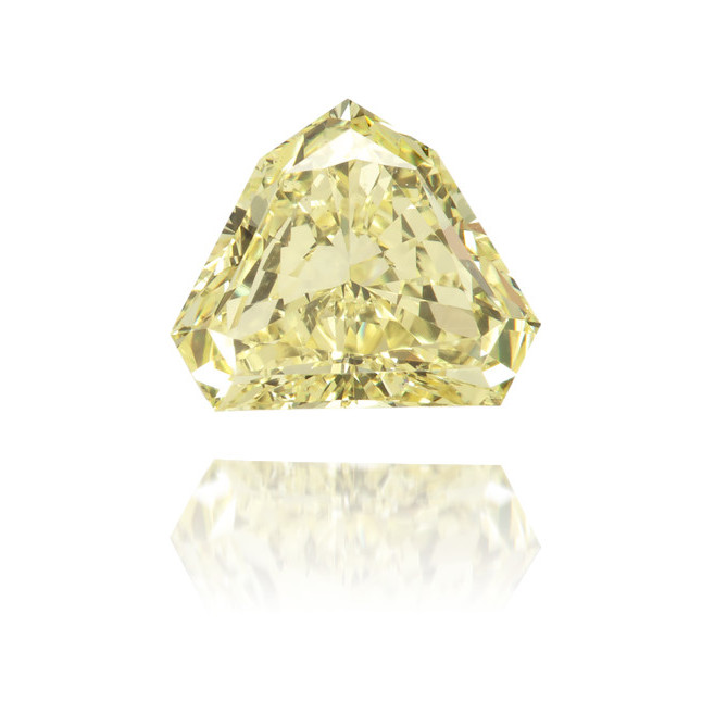 Natural Yellow Diamond Bishop Hat 0.60 ct Polished