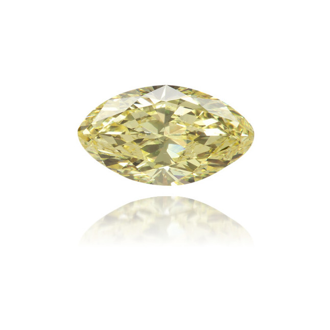 Natural Yellow Diamond Marquise 0.62 ct Polished