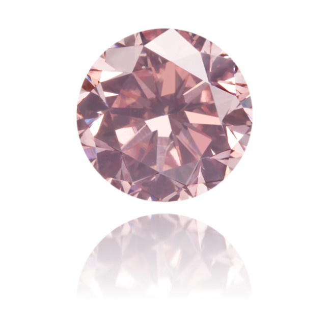 Natural Pink Diamond Round 0.45 ct Polished