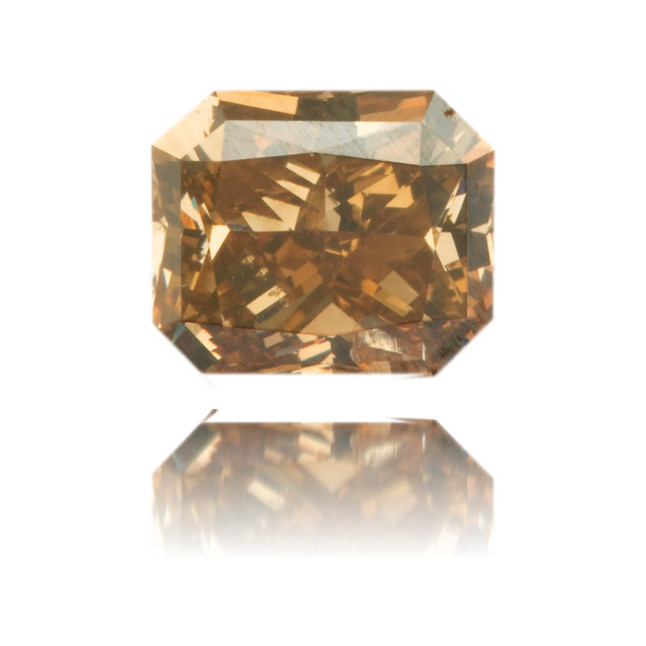 Natural Brown Diamond Rectangle 1.26 ct Polished