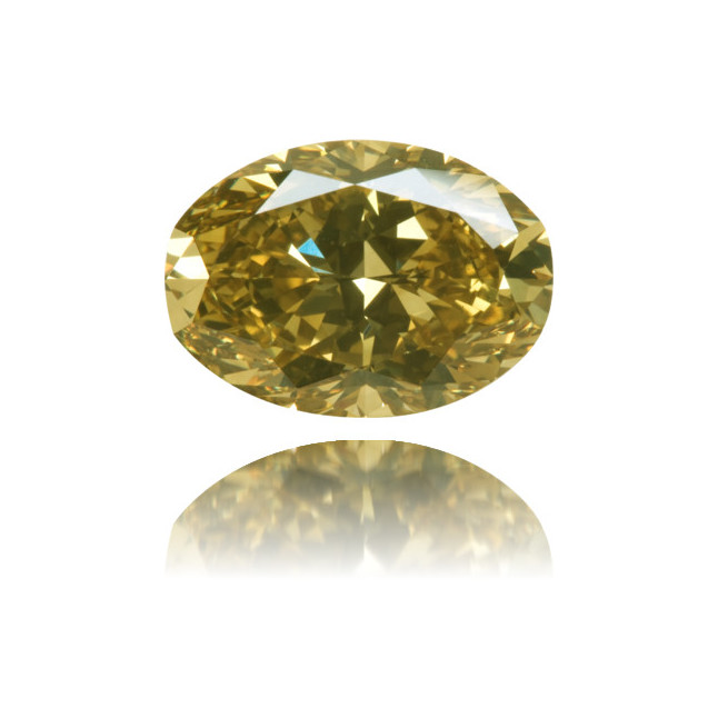 Natural Green Diamond Oval 3.10 ct Polished