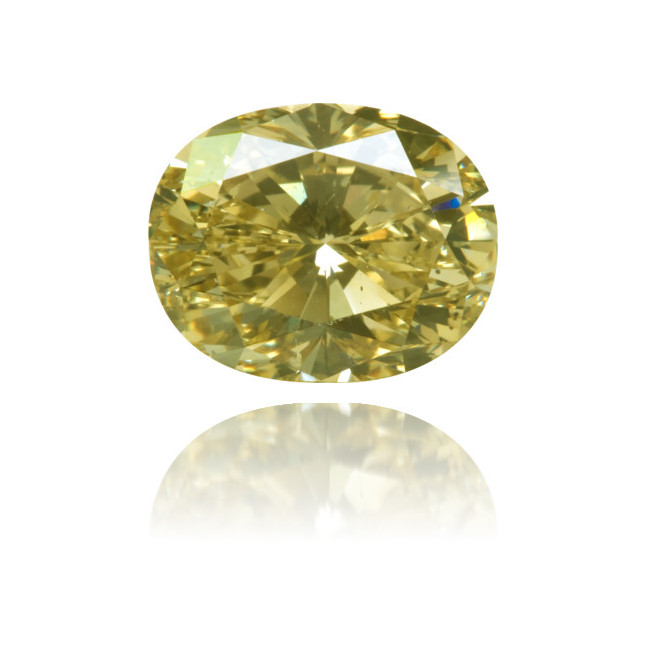 Natural Yellow Diamond Oval 2.97 ct Polished