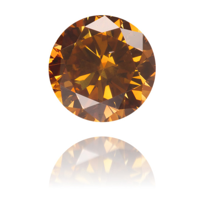 Natural Orange Diamond Round 0.37 ct Polished