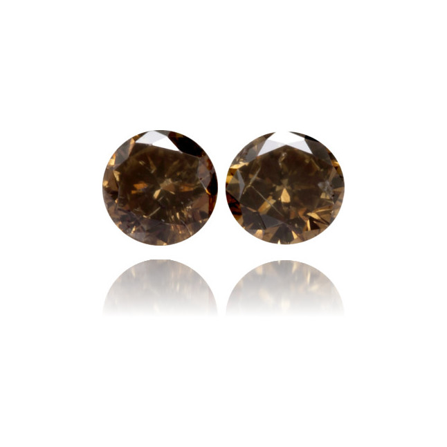 Natural Brown Diamond Round 0.17 ct Set