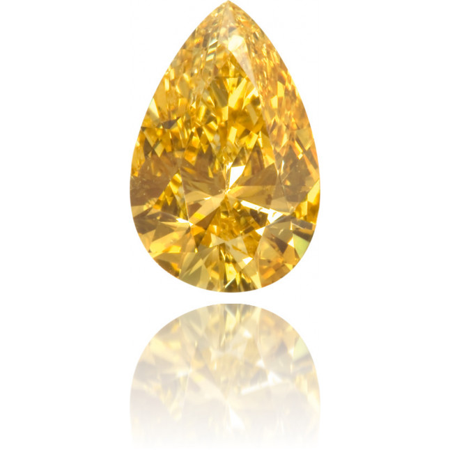 Natural Orange Diamond Pear Shape 0.93 ct Polished