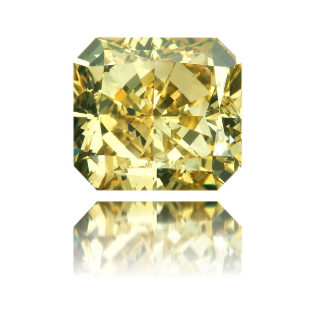 Natural Yellow Diamond Square 3.27 ct Polished