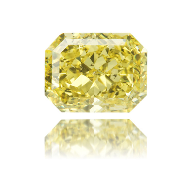 Natural Yellow Diamond Rectangle 2.81 ct Polished