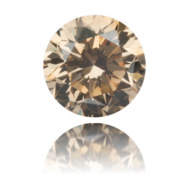 Natural Brown Diamond Round 1.52 ct Polished