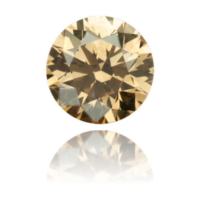 Natural Brown Diamond Round 0.64 ct Polished